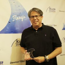 Paul Jackson, Global Marketing Consultant, Dell with his Finny award for Dell's Nurture Program.